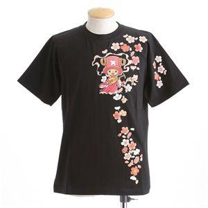 むかしむかし ワンピースコレクション 和柄半袖Tシャツ S-2441/チョッパー弁財天 黒L