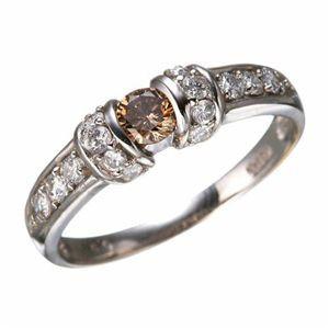 K18WGダイヤリング 指輪 ツーカラーリング 17号