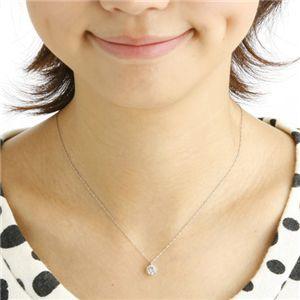 Hカラー I1ダイヤモンド一粒ネックレス0.7ct(鑑別書付き)