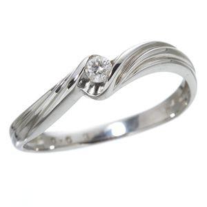 ダイヤリング 指輪 ウェーブリング 15号