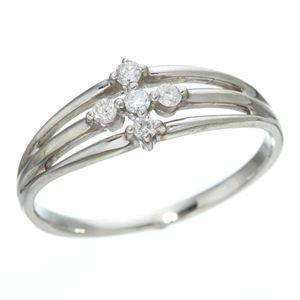 0.1ctダイヤリング 指輪 サザンクロスシルバーリング 9号