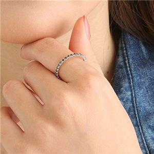 0.5ctブラックダイヤリング 指輪 エタニティリング 9号