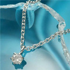 純プラチナ台 0.1ctダイヤモンドペンダント/ネックレス