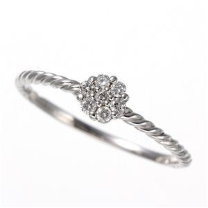 K14WG(ホワイトゴールド) ダイヤリング 指輪 セブンスターリング 9号