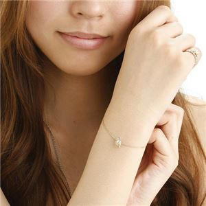 amelie mon chouchou Priere K18 誕生石ベビーリングネックレス (4月)ダイヤモンド