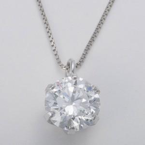 Dカラー SI2 エクセレントカット プラチナPT999 0.5ctダイヤモンドペンダント/ネックレス 鑑定書付き(中央宝石研究所)