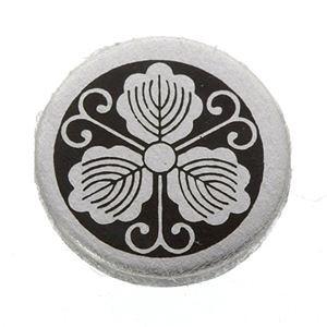 家紋つきメガネホルダー 〔貝パール〕丸につる柏