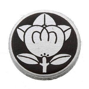家紋つきメガネホルダー 〔貝パール〕丸に橘