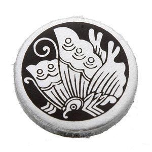 家紋つきメガネホルダー 〔貝パール〕丸に揚羽蝶