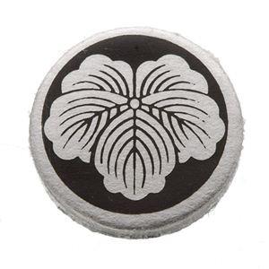 家紋つきメガネホルダー 〔貝パール〕丸に蔦