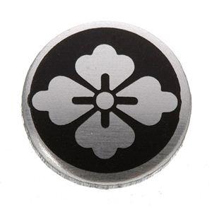 家紋つきメガネホルダー 〔貝パール〕丸に花菱