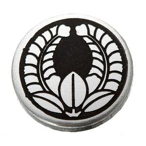 家紋つきメガネホルダー 〔貝パール〕丸に上り藤