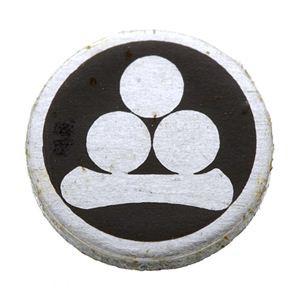 家紋つきメガネホルダー 〔貝パール〕丸に渡辺星