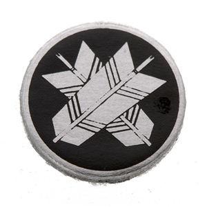 家紋つきメガネホルダー 〔貝パール〕丸に違い矢