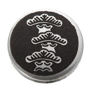 家紋つきメガネホルダー 〔貝パール〕丸に右三階松