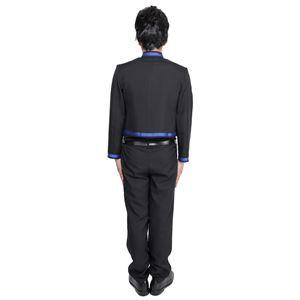 学ラン/コスプレ衣装 〔短ラン 青ライン〕 メンズ180cm迄 上着 パンツ付き 『木更津』 〔イベント パーティー〕