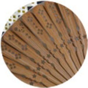 komon+ 和紙扇子70型25間〔3本セット〕パンダ格子