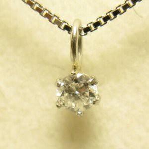 プラチナ Iクラスダイヤペンダント0.05ct (K10WGチェーン)