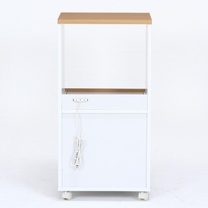 キッチンカウンター サージュ WH×NA 45cm幅 ナチュラル×ホワイト【代引不可】
