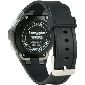 Time Piece(タイムピース) 腕時計 ランニングウォッチ 20LAP デジタル ブラック/ブラック TPW-004B
