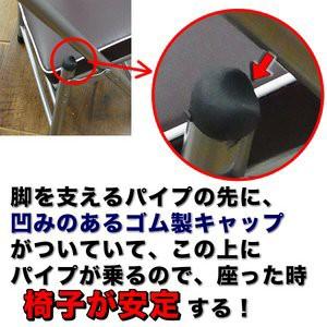 ちょいがるチェア/ミニ折りたたみローチェア 〔ブラック〕 コンパクト仕様 〔室内/屋外〕