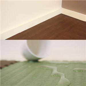 やさしいジョイントマット ナチュラル 約1畳分サイドパーツ レギュラーサイズ(30cm×30cm) ダークウッド(木目調) 〔クッションマット