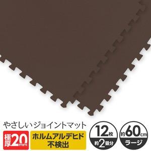 極厚ジョイントマット 2cm 大判 〔やさしいジョイントマット 極厚 12枚入 本体 ラージサイズ(60cm×60cm) ブ