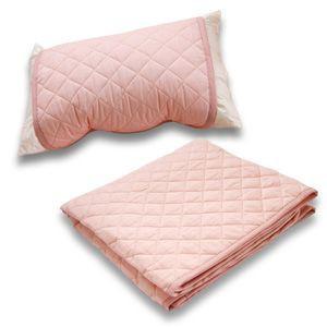 クールレイ(R) パッドシーツ + 枕パッド シングル ブルー 綿100% 日本製