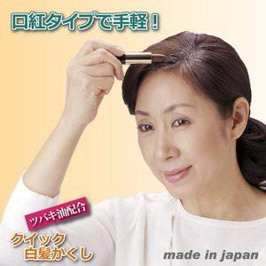 クイック白髪かくし 〔男女兼用/ブラック(黒)〕 無香料 日本製