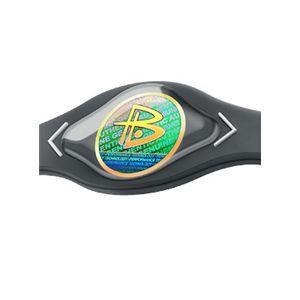 【日本正規品】POWER BALANCE(パワーバランス) シリコン・ブレスレット(グレー/ホワイト XSサイズ)
