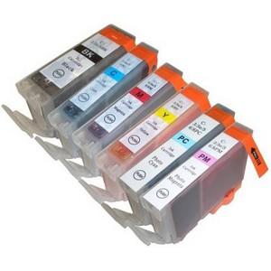 〔キヤノン(Canon)対応〕BCI-3/3e/5/6/8-BK/C/M/Y/PC/PM 互換インクカートリッジ 6色セット