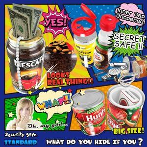 〔隠し金庫〕 食品ボトル型 セーフティボックス 『SECRET SAFE シークレットセーフ』(OA-402) Coffee