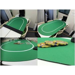 ポーカー・オーバルマット/楕円形 -カラー;グリーン-