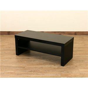 【訳あり・在庫処分】テレビ台/テレビボード 【幅80cm/24型〜32型対応】 ブラック 『SIMPLE』 鏡面仕上げ オープン収納棚付き