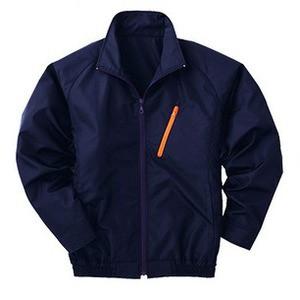 空調服 ポリエステル製長袖ブルゾン P-500BN 〔カラー:ネイビー サイズ:XL〕 リチウムバッテリーセット
