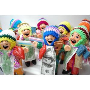 〔エケコ人形18cm〕ミックス色 エケコ人形 18cm タイプ1 顔にホリのあるタイプのエケコ人形