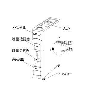 マッキンリー 無洗米兼用 米びつ スリムライスボックス 6kg収納型 RN-368/WM