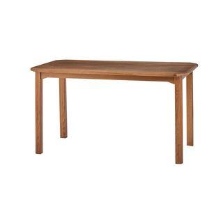 木製ダイニングテーブル/リビングテーブル 〔幅130cm〕 木目調 『クーパス』 VET-633T