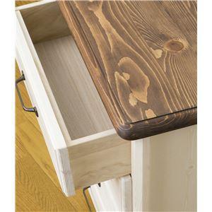 フレンチカントリー調チェスト/収納棚 【4段 幅50cm】 木製 『ニューカントリー』 シャビーシック 【完成品】