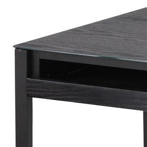 あずま工芸 ガラスデスク 幅100cm ブラック EDG-1969