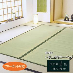 フリーカット い草上敷 『F竹』 江戸間2畳(約176×176cm)(裏:ウレタン張り)