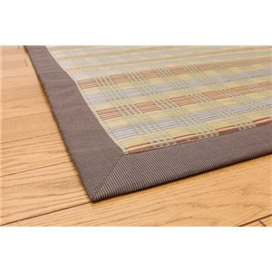ウレタン12mm入り い草ラグカーペット 『SF×ピアリー』 ブラウン 約200×200cm 正方形