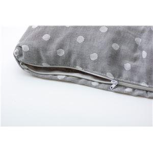 ガーゼ 寝具カバー 『ドット 掛けカバーLS』 グレー 150×210cm シングル 綿100%