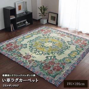 い草ラグカーペット 『D×ロザンヌNF』 約191×191cm(裏:不織布)