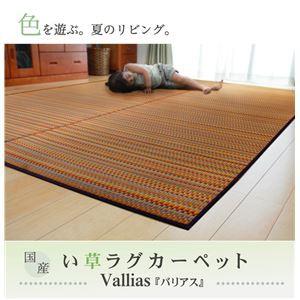 純国産 い草ラグカーペット 『バリアス』 ブラウン 約191×250cm