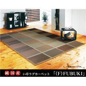 純国産 い草ラグカーペット 『(F)FUBUKI』 グリーン 約191×191cm(裏:ウレタン)