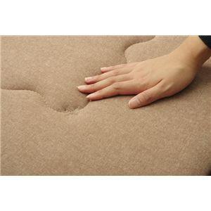 インド綿 ふっくら 厚敷き フロアマット 『アルフ F敷』 ブラウン 190×240cm