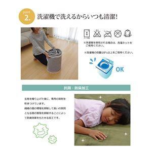 ラグマット カーペット 3畳 洗える 抗菌 防臭 無地 『ピオニー』 アイボリー 約200×250cm (ホットカーペッ