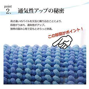 バスマット フロアマット 洗える 吸水 マイクロファイバー 『さらり美人2』 グリーン 2枚組 約35×50cm
