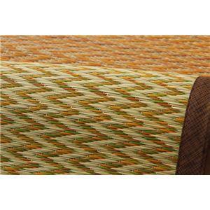 い草ラグ 花ござ カーペット ラグマット 4.5畳 格子柄 市松柄 『ピーア』 ブラウン 江戸間4.5畳 (約261×261